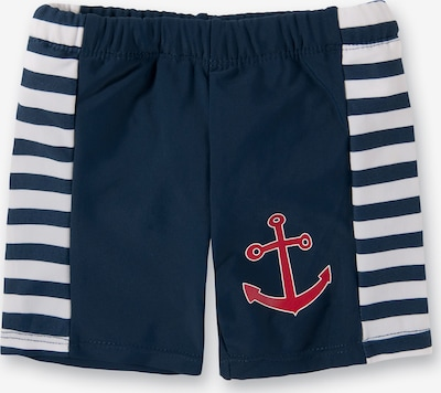 PLAYSHOES Bathing trunks in navy / fire red / white, Item view