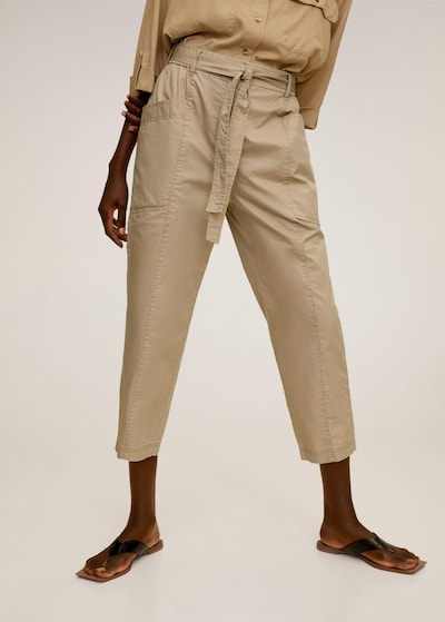 MANGO Hose 'Seul' in braun, Modelansicht