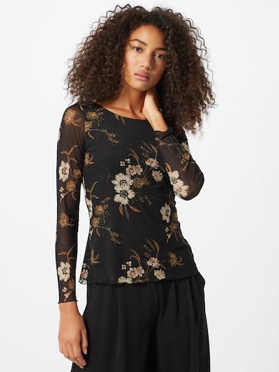s.Oliver BLACK LABEL Shirt in de kleur Beige / Zwart: Vooraanzicht