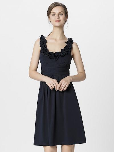 APART Sommerkleid mit angekräuseltem Rockpart in Taille in nachtblau, Modelansicht