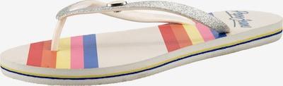 Pepe Jeans Zehentrenner in mischfarben / silber, Produktansicht