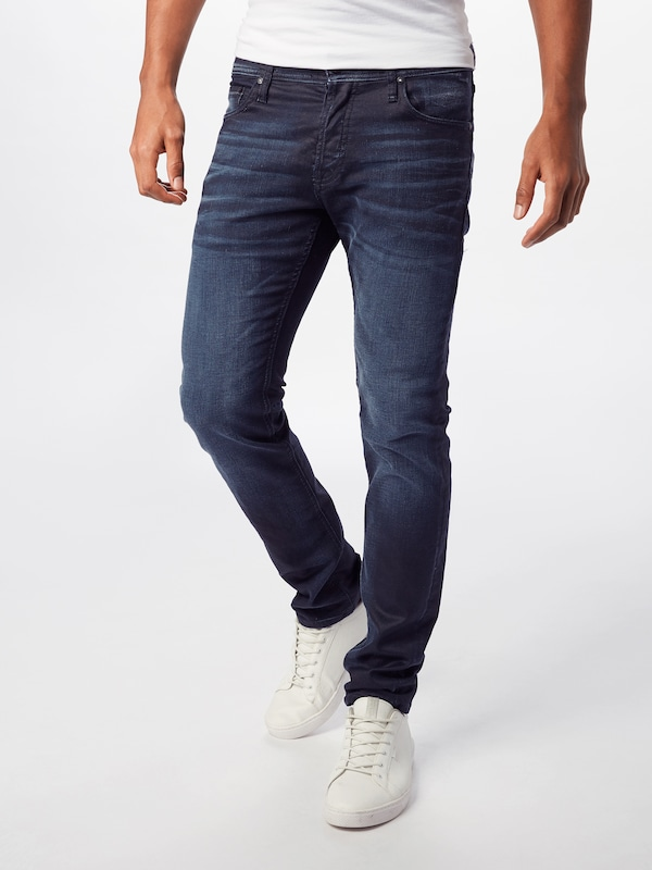 JACK & JONES Jeans 'GLENN' in blue denim, Modelansicht