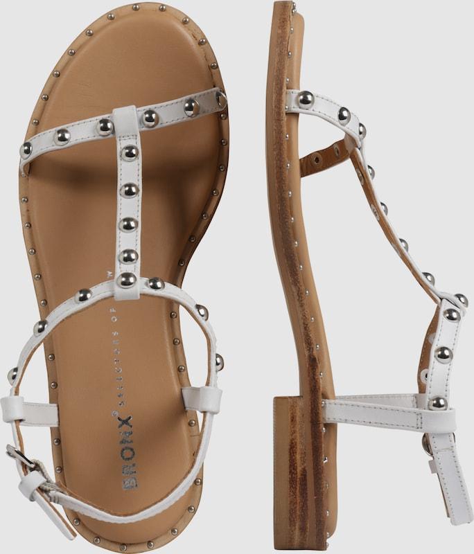 BRONX Riemchensandale mit Nietenbesatz Verschleißfeste billige Schuhe