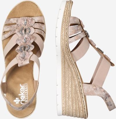 RIEKER Sandale in rosé: Seitenansicht