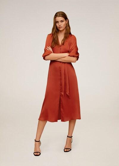 MANGO Kleid 'punti' in rot, Modelansicht
