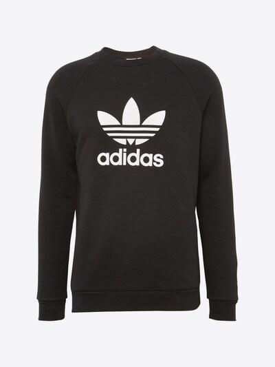 ADIDAS ORIGINALS Sweatshirt 'Trefoil' in schwarz / weiß: Frontalansicht