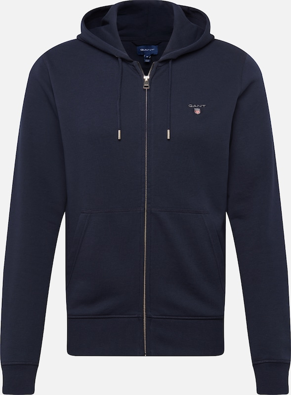 GANT Sweatjacke 'THE ORIGINAL FULL ZIP HOODIE' in dunkelblau, Produktansicht