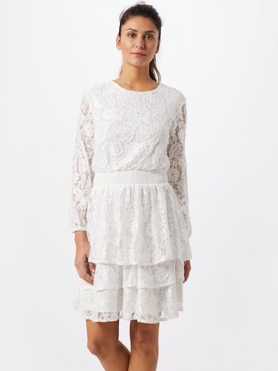 SISTERS POINT Kleid 'NICOLINE-LACE' in creme: Frontalansicht