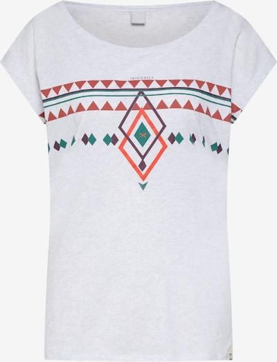 Iriedaily Shirt 'Hopi' in smaragd / beere / orange / rostrot / weißmeliert, Produktansicht