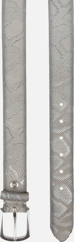 b.belt Handmade in Germany Ledergürtel mit Metallic-Schlangenprint