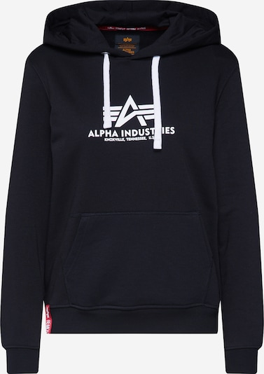 ALPHA INDUSTRIES Hoodie in schwarz, Produktansicht