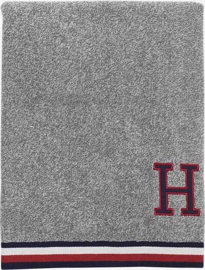TOMMY HILFIGER Handtücher 2tlg. in blau / grau / rot / weiß, Produktansicht