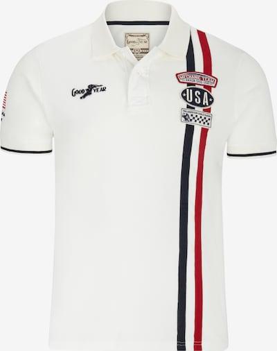 GOODYEAR Poloshirt LAS VEGAS in sportlichem Design in ecru, Produktansicht