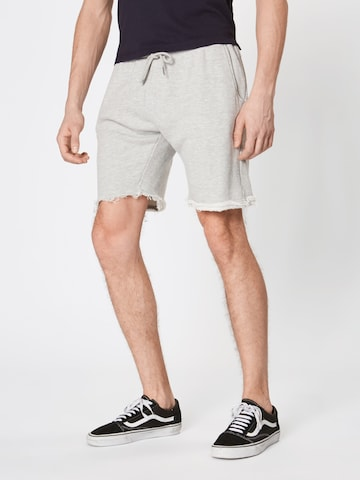Urban Classics Trousers 'Herringbone' in Grey