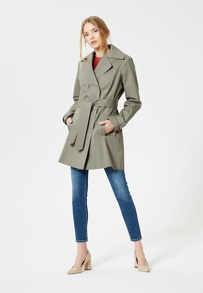 Usha Mantel in grau, Produktansicht