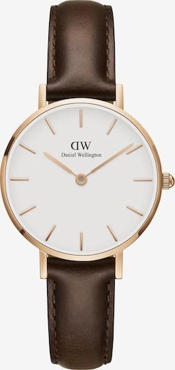 Daniel Wellington Uhr 'Classic Petite 28 Bristol'' in kastanienbraun / gold / weiß, Produktansicht