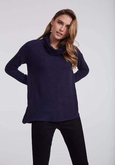 Long Tall Sally Pullover mit Wasserfallausschnitt für große Frauen in marine, Modelansicht