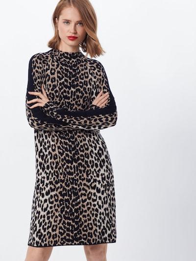 monari Kleid in beige / braun / schwarz / weiß, Modelansicht