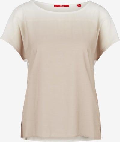 s.Oliver Shirt in chamois / weiß, Produktansicht