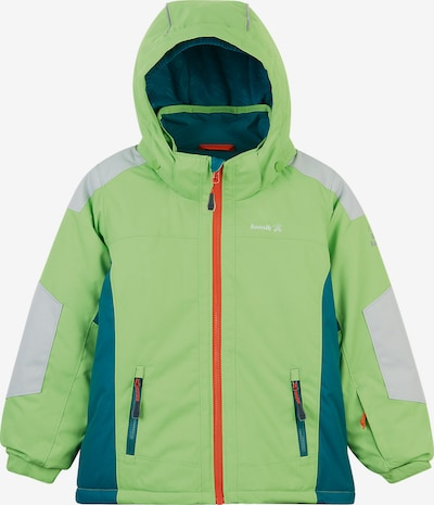 Kamik Skijacke 'Roscoe' in hellgrau / grün / hellgrün, Produktansicht