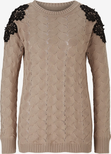 heine Sweter w kolorze piaskowy / czarnym: Widok z przodu