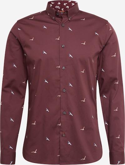 BURTON MENSWEAR LONDON Zakelijk overhemd in de kleur Bourgogne, Productweergave