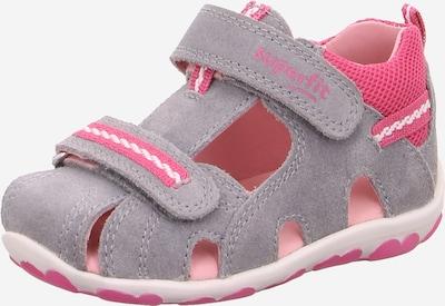 SUPERFIT Sandale  'Fanni' in grau / rosa, Produktansicht
