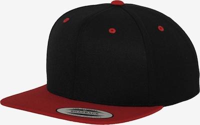 Flexfit Cap in rot / schwarz, Produktansicht