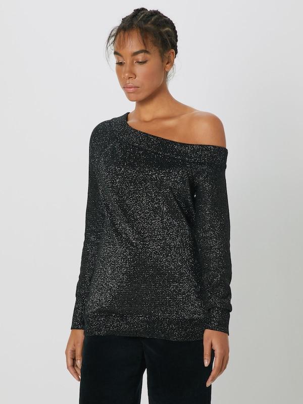 Lurex Schwarz Gap Pullover Po' 'one Shoulder tXBTwxgq