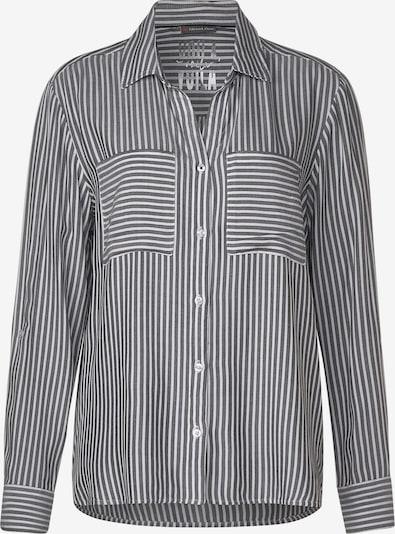 STREET ONE Hemdbluse 'Jörne' in schwarz / weiß, Produktansicht