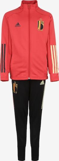 ADIDAS PERFORMANCE Trainingsanzug 'RBFA Belgien' in hellgelb / rot / schwarz, Produktansicht