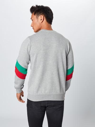 Iriedaily Sweat-shirt 'Prime Crew' en gris chiné / menthe / rouge: Vue de dos