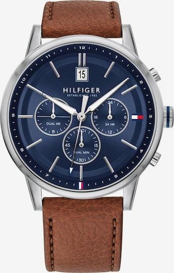TOMMY HILFIGER Uhr in navy / cognac / silber, Produktansicht