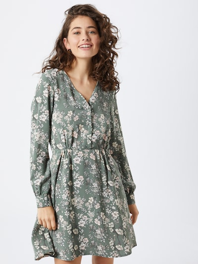 VERO MODA Robe 'Diana' en vert / rose pastel / blanc, Vue avec modèle