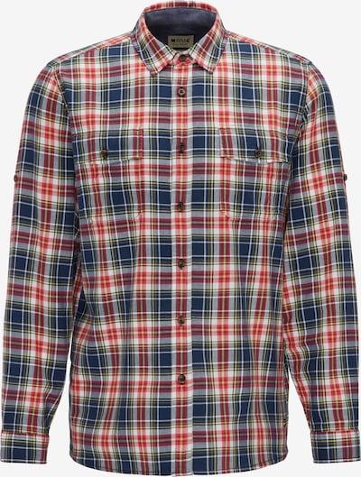 MUSTANG Hemd in dunkelblau / rot: Frontalansicht