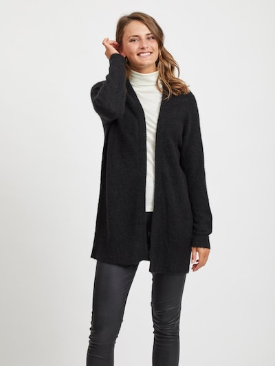 OBJECT Strickjacke in schwarz, Modelansicht