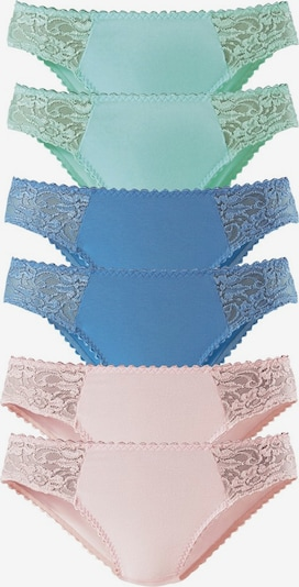 PETITE FLEUR Spitzen-Jazzpants (6 Stck.) in blau / jade / rosa, Produktansicht