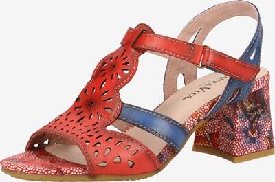 Laura Vita Sandalen met riem in de kleur Hemelsblauw / Rood, Productweergave