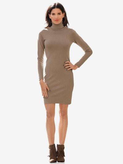 heine Úpletové šaty - tmavě béžová, Model/ka