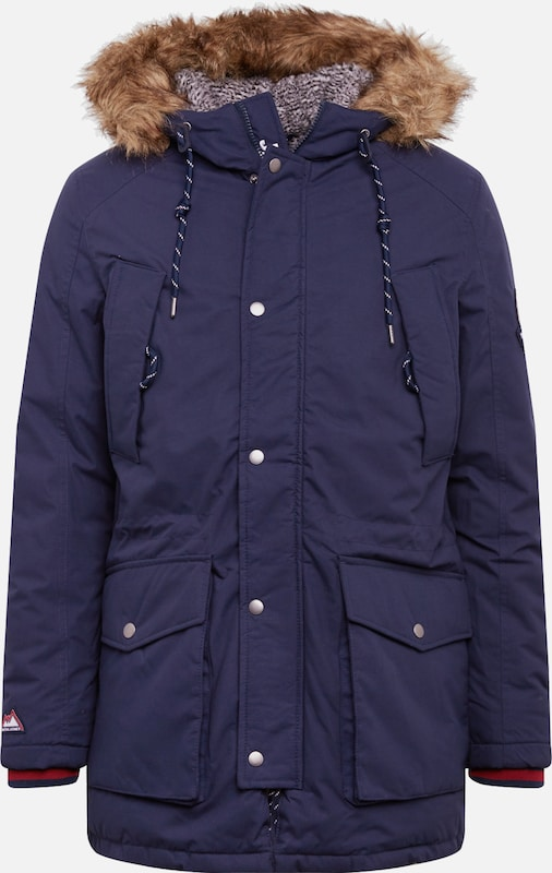 JACK & JONES Winterjas 'JOREXPLORE LIMITED PARKA' in de kleur Navy, Productweergave