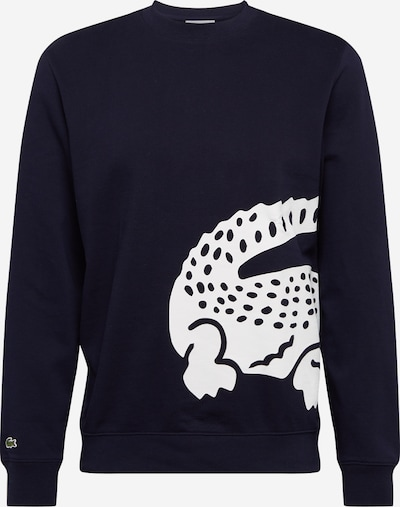 LACOSTE Sweatshirt in de kleur Marine / Wit, Productweergave