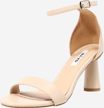 Sandale cu baretă de la NA-KD pe bej