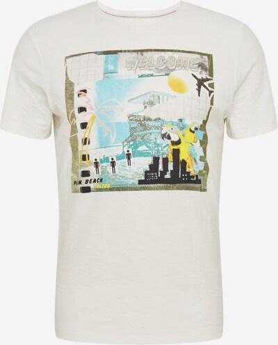BLEND Shirt in gelb / oliv / mischfarben / offwhite, Produktansicht