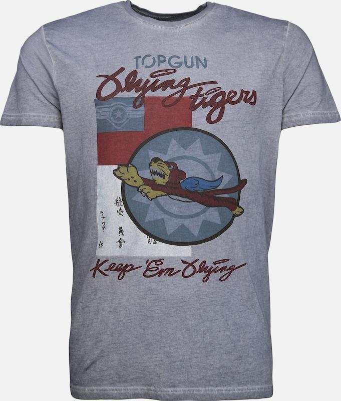Top Grau Gun shirt T Dunkelgrau Dunkelrot rqrBwtzd