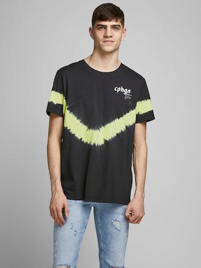 JACK & JONES Bedrucktes Oversize T-Shirt in schwarz: Frontalansicht