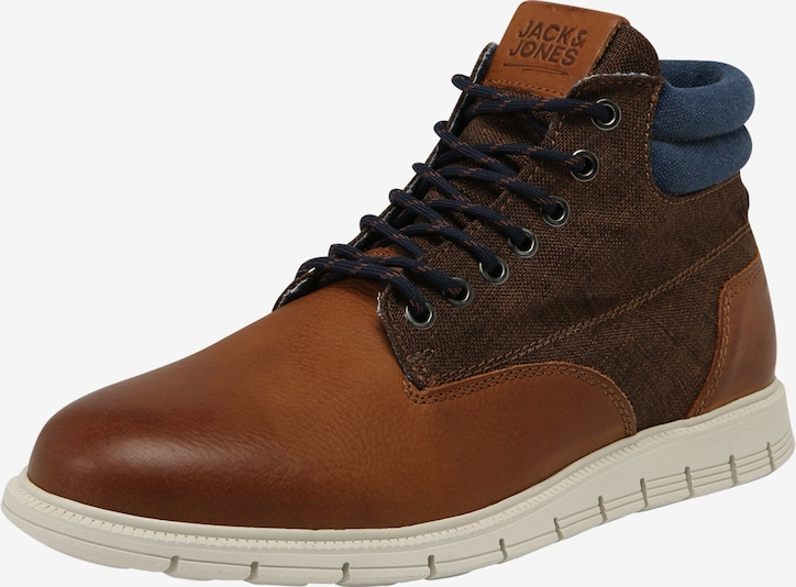 JACK & JONES Stiefel 'JFWPEDRO LEATHER BOOT' in cognac, Produktansicht