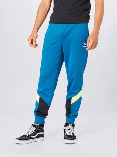 PUMA Püksid taevasinine / pastellroheline / must, Modellivaade