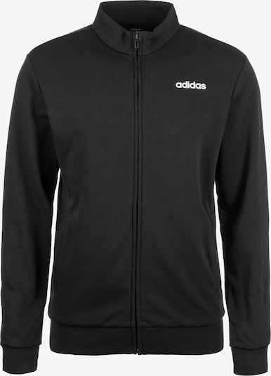 ADIDAS PERFORMANCE Trainingsjacke 'Essentials Linear' in schwarz / weiß, Produktansicht