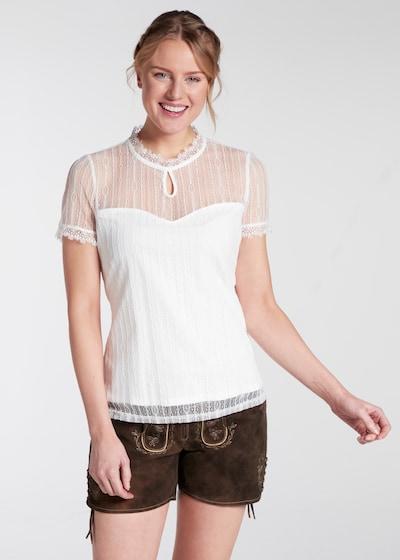 SPIETH & WENSKY Trachtenbluse 'Nelly' in weiß, Modelansicht