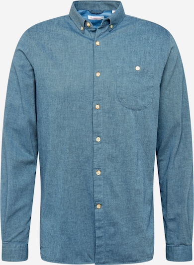 KnowledgeCotton Apparel Hemd in blue denim, Produktansicht